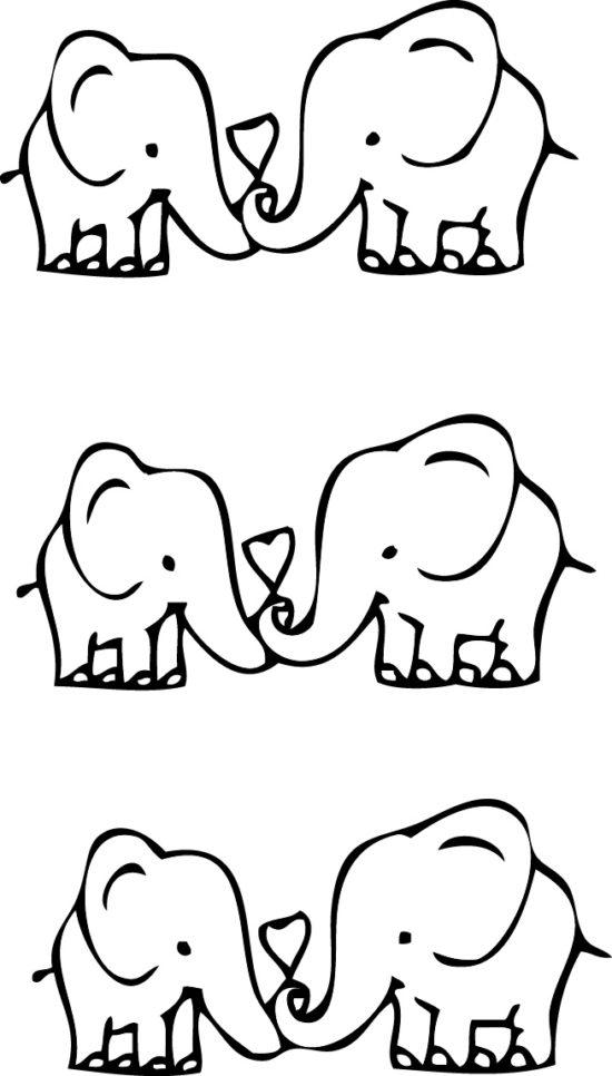 Tampons tatouages éphémères Éléphants n°1